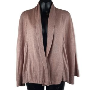 Eileen Fisher Organic Cotton Open Front Cardigan Blush Pink Size Large